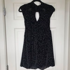 Free People black velvet dress with cut outs